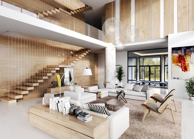 Những phòng khách sang trọng với cách thiết kế, trang trí độc đáo - Ảnh 7.