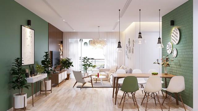 Căn hộ 3 phòng ngủ, sở hữu những mảng xanh tinh tế - Ảnh 1.