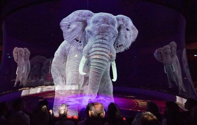 Rạp xiếc Đức sử dụng hình chiếu 3D để chống ngược đãi động vật - Ảnh 1.