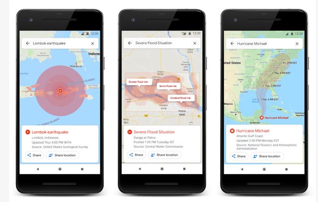 Google Maps cập nhật tính năng cảnh báo thiên tai - Ảnh 1.