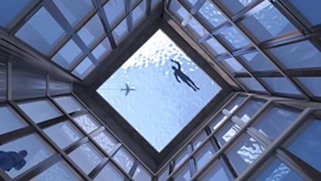 Choáng: Bể bơi vô cực 360 độ đầu tiên trên thế giới tại London - ảnh 1