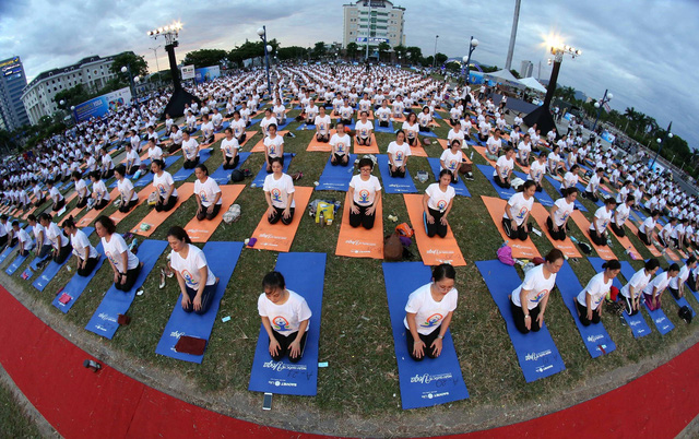 1.200 người đồng diễn Yoga cho cuộc sống xanh - Ảnh 1.