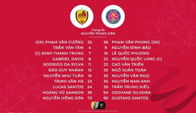 CLB Quảng Nam 3-1 CLB Sài Gòn: Thanh Trung lập cú đúp bàn thắng, Quảng Nam giành trọn 3 điểm! - Ảnh 1.
