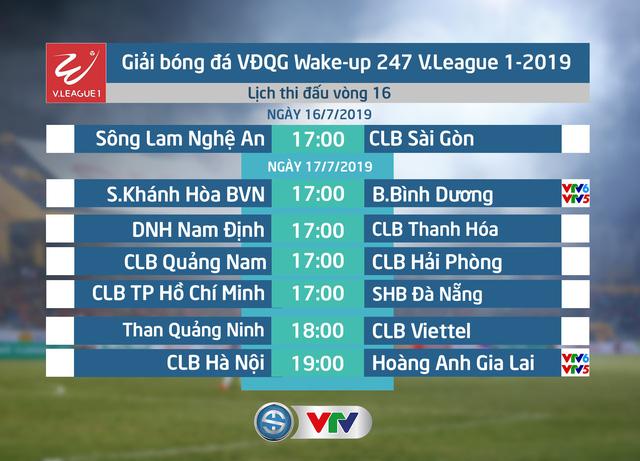 Lịch thi đấu và trực tiếp vòng 16 Wake-up 247 V.League 1-2019: Tâm điểm CLB Hà Nội - Hoàng Anh Gia Lai - Ảnh 1.