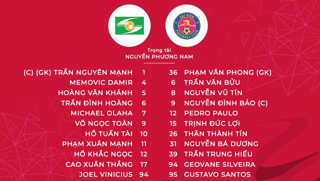 Sông Lam Nghệ An 2-2 CLB Sài Gòn: Chia điểm kịch tính với 2 quả phạt đền! - Ảnh 2.