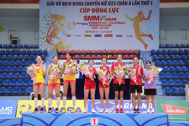 Giải bóng chuyền nữ U23 châu Á 2019: Trung Quốc vô địch lần 2, Thanh Thúy là chủ công xuất sắc nhất - Ảnh 4.