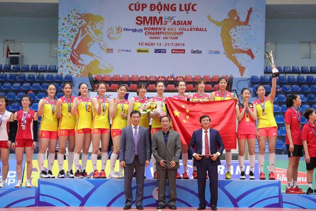Giải bóng chuyền nữ U23 châu Á 2019: Trung Quốc vô địch lần 2, Thanh Thúy là chủ công xuất sắc nhất - Ảnh 1.