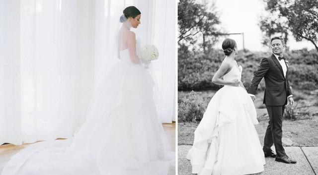 Trầm trồ với những mẫu váy cưới của các ngôi sao - Ảnh 13.