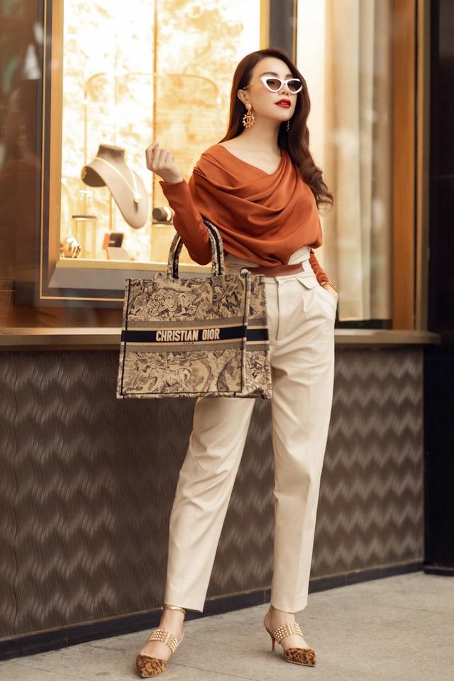 Ngắm thời trang xuống phố cực chất của Trà Ngọc Hằng - Ảnh 6.