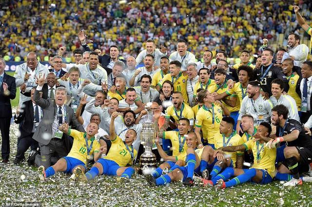 ẢNH: Jesus nhận thẻ đỏ, Brazil vẫn vô địch Copa America sau 12 năm chờ đợi - Ảnh 19.