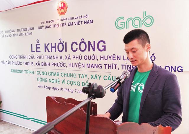 Khởi công xây dựng hai cây cầu đầu tiên của Dự án Cùng Grab Chung Tay - Xây Cầu Đến Lớp - Ảnh 1.