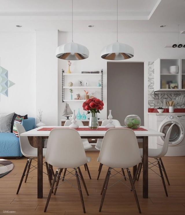 Ngắm những phòng ăn lịch lãm, mang phong cách hiện đại - Ảnh 4.
