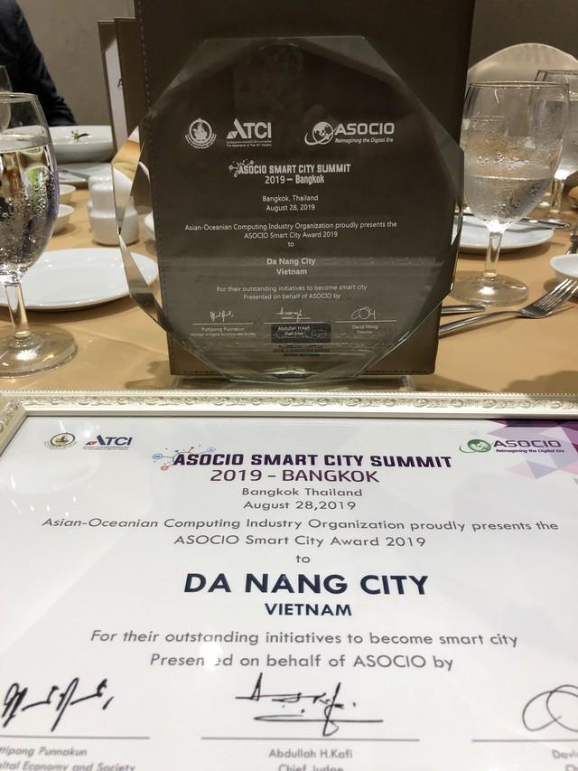 Đà Nẵng nhận giải thưởng Thành phố Thông minh ASOCIO 2019 - Ảnh 1.
