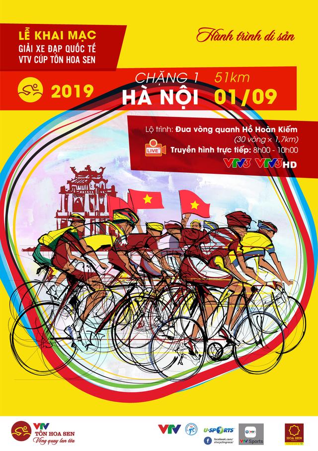 Chặng khai mạc giải Xe đạp quốc tế VTV Cúp Tôn Hoa Sen 2019: Vòng quanh hồ Hoàn Kiếm (08:00 ngày 01/9 trên VTV3) - Ảnh 2.