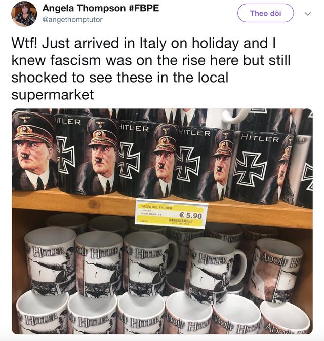 """Du khách Anh """"choáng váng"""" khi thấy đồ lưu niệm có hình Hitler - Ảnh 1."""