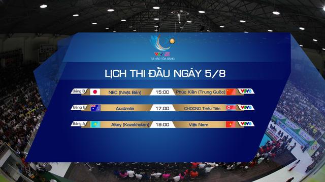 Lịch thi đấu và trực tiếp VTV Cup Tôn Hoa Sen 2019 ngày 5/8: ĐT Việt Nam gặp CLB Altay (Kazakhstan) - Ảnh 1.
