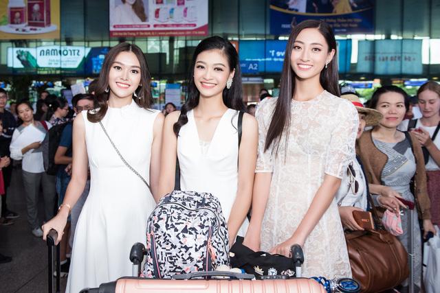 Hoa hậu Lương Thùy Linh và 2 Á hậu gây náo loạn tại sân bay - Ảnh 11.