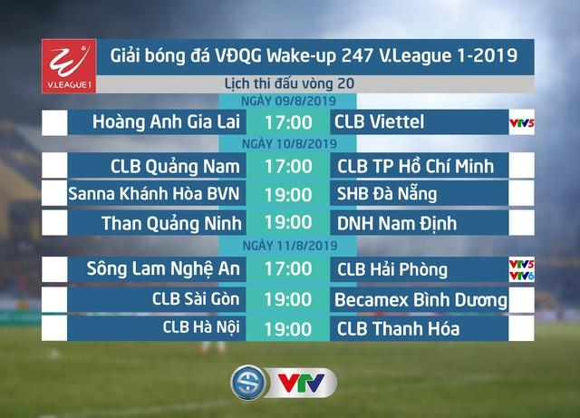 Lịch thi đấu và trực tiếp vòng 20 V.League 2019: Tâm điểm Hoàng Anh Gia Lai - CLB Viettel - Ảnh 1.
