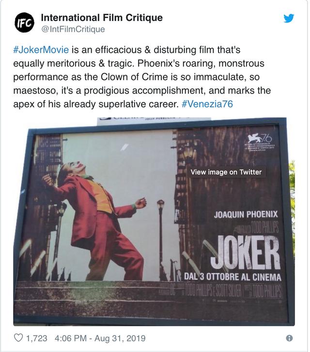 LHP Venice 2019: Joker Joaquin Phoenix xứng đáng nhận giải Oscar - Ảnh 1.