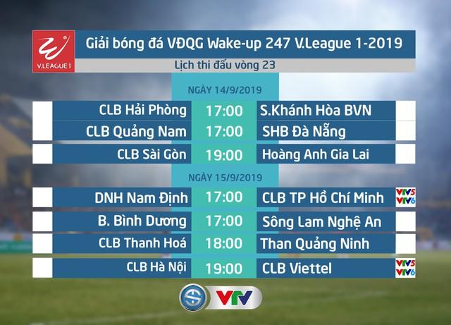 Lịch thi đấu và tường thuật trực tiếp vòng 23 V.League 2019: Tâm điểm CLB Hà Nội – CLB Viettel - Ảnh 1.
