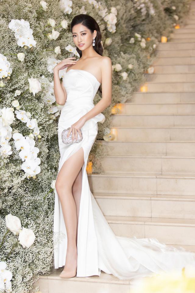Lương Thùy Linh, Tường San, Kiều Loan đọ sắc trong váy trắng nuột nà - Ảnh 4.