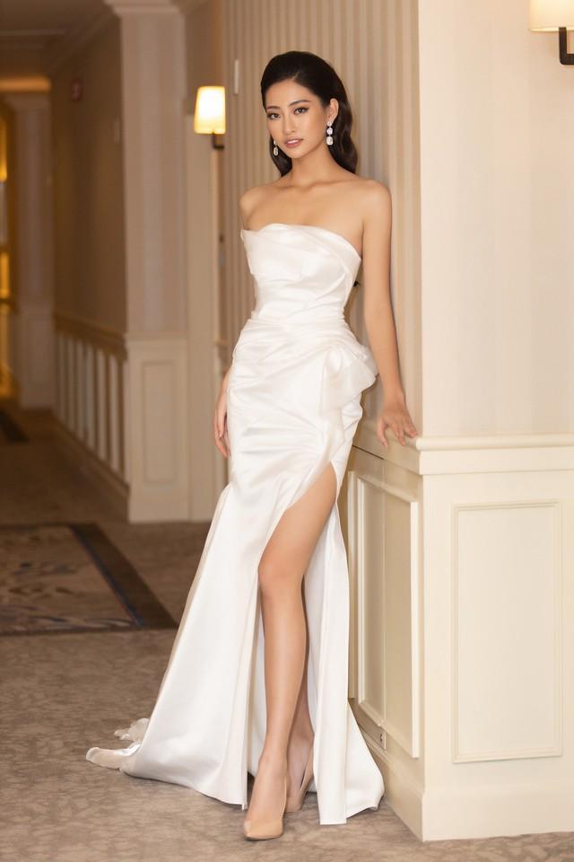 Lương Thùy Linh, Tường San, Kiều Loan đọ sắc trong váy trắng nuột nà - Ảnh 8.