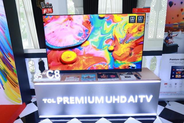 TCL chính thức 'tái xuất'trên đường đua tivi thông minh với 'chiến binh' UHD AI TV C8 - Ảnh 1.