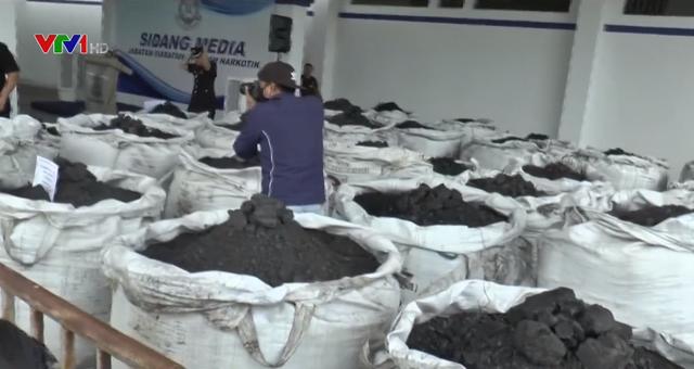 Malaysia thu giữ 12 tấn cocain trà trộn trong than - Ảnh 1.