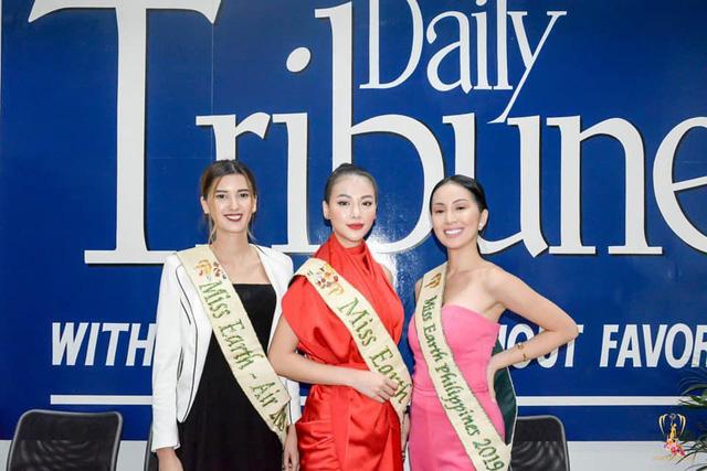 """Hoa hậu Trái đất Phương Khánh đẹp """"hút hồn"""" phủ sóng truyền thông Philippines - Ảnh 1."""