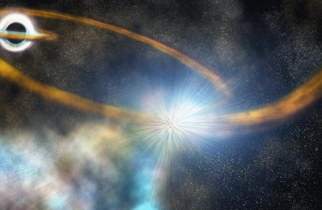 """Khoảnh khắc hố đen """"xé xác"""" một ngôi sao - Ảnh 1."""