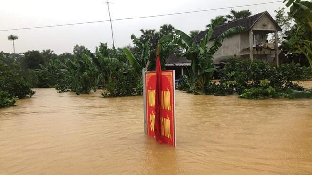 Hà Tĩnh: Nước ngập cao hơn mức báo động 3 gần 1m - Ảnh 4.