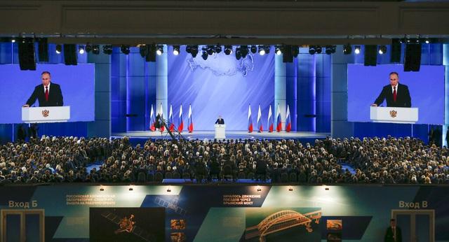 Tổng thống Nga Vladimir Putin đọc Thông điệp Liên bang lần thứ 16 - Ảnh 1.