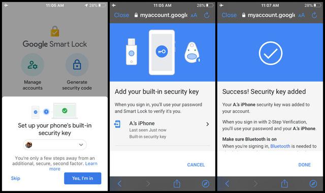 Google cập nhật xác thực hai yếu tố cho người dùng iPhone - ảnh 1