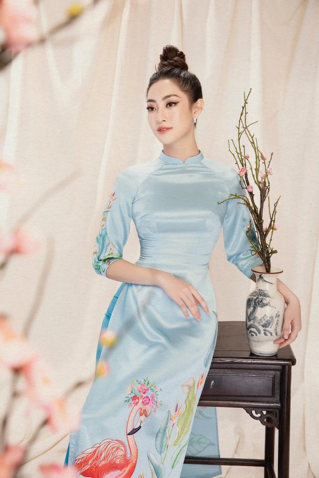 Lương Thùy Linh đẹp say lòng người với bộ ảnh áo dài Tết - ảnh 14