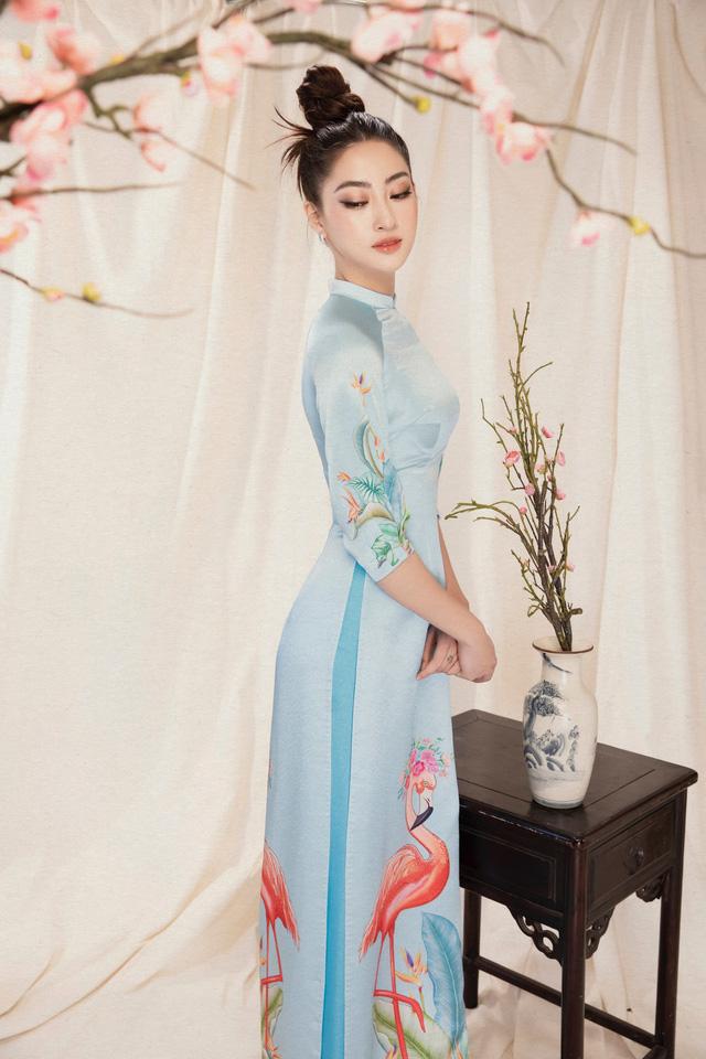 Lương Thùy Linh đẹp say lòng người với bộ ảnh áo dài Tết - ảnh 15