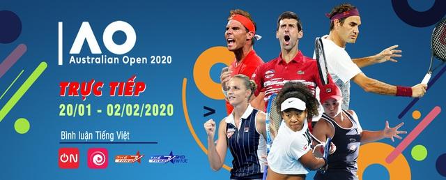 VTVcab trực tiếp Australian Open 2020, độc quyền bình luận tiếng Việt - ảnh 1