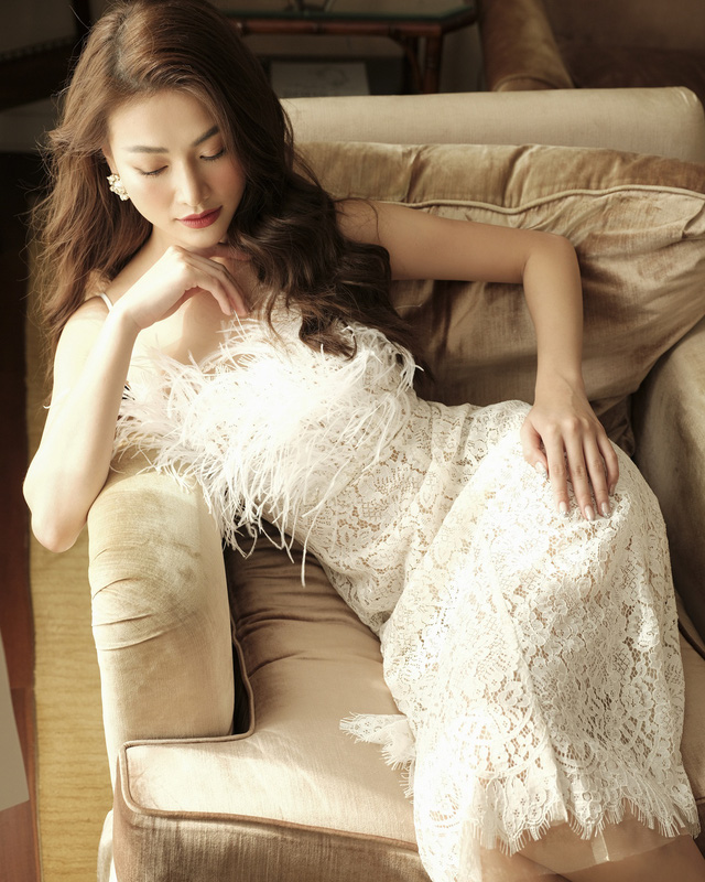 Phương Khánh hoá tiểu thư ngọc ngà trong bộ ảnh áo dài Tết - ảnh 9