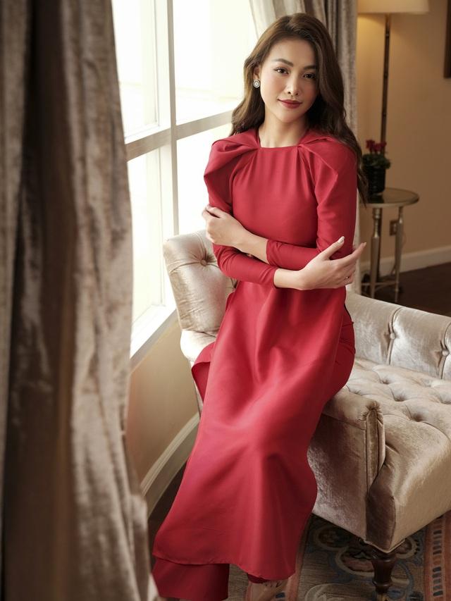 Phương Khánh hoá tiểu thư ngọc ngà trong bộ ảnh áo dài Tết - Ảnh 6.