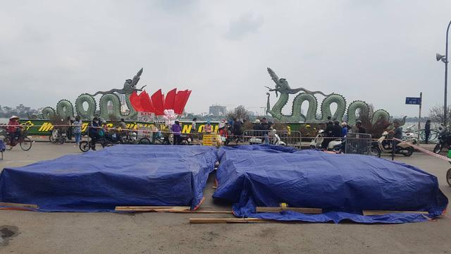 Cận cảnh trận địa pháo hoa tầm cao phục vụ đêm Giao thừa 2020 tại Hà Nội - ảnh 8