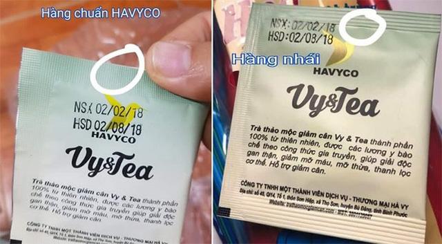 Trà thảo mộc Vy&Tea liên tục bị làm giả trên thị trường - Ảnh 1.