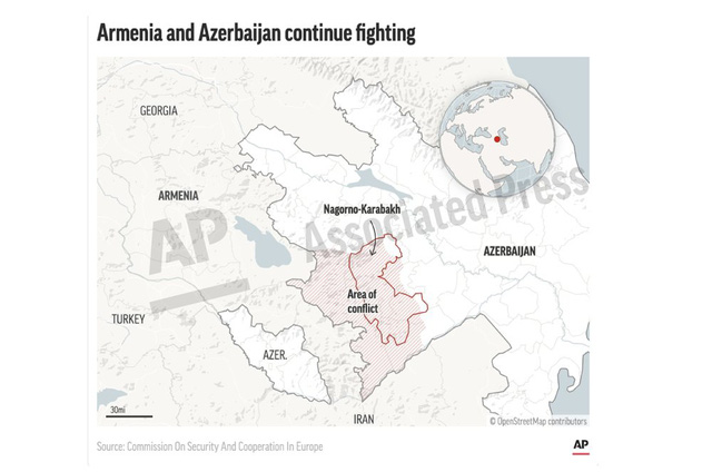 Châu Âu kêu gọi ngừng bắn ngay lập tức tại Nagorno-Karabakh - Ảnh 1.