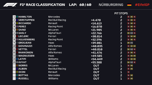 Đua xe F1: Lewis Hamilton về nhất tại GP Eifel 2020 - Ảnh 4.