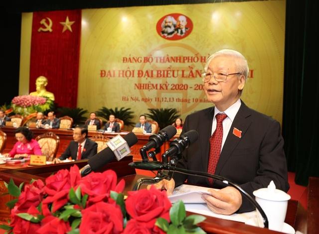 7 vấn đề Tổng Bí thư, Chủ tịch nước lưu ý tại Đại hội Đảng bộ Thành phố Hà Nội - Ảnh 1.