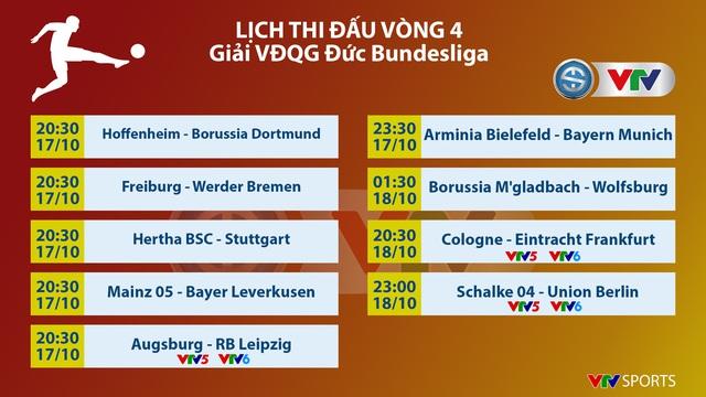Lịch thi đấu và trực tiếp vòng 4 Bundesliga: Chờ đợi tâm điểm Augsburg - RB Leipzig - Ảnh 1.