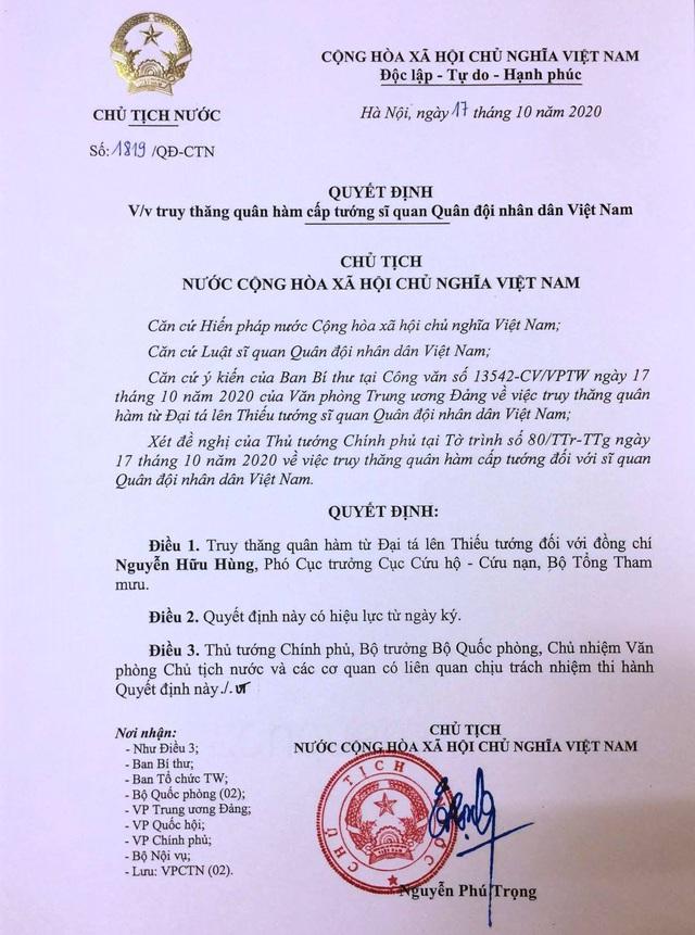 Truy tặng Huân chương Bảo vệ Tổ quốc cho 11 chiến sĩ hy sinh tại thủy điện Rào Trăng 3 - Ảnh 1.