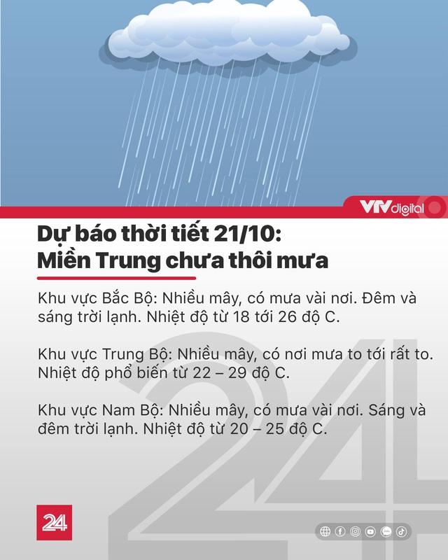 Tin nóng đầu ngày 21/10: Miền Trung chưa hết mưa, bão số 8 mạnh lên với hướng đi phức tạp - Ảnh 6.