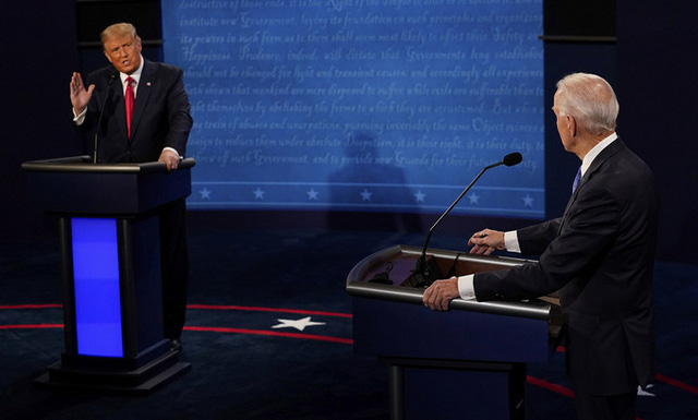 Tranh luận bầu cử Tổng thống Mỹ: Hé lộ nhiều thông tin về quan điểm lãnh đạo đất nước - Ảnh 1.