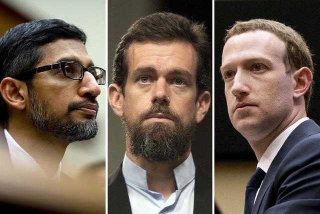 CEO Facebook, Twitter và Google chuẩn bị ra điều trần trước Thượng viện Mỹ - Ảnh 1.