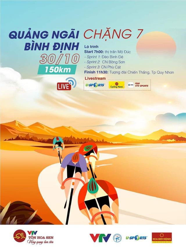 Chặng 7 Giải xe đạp VTV Cúp Tôn Hoa Sen 2020: Quảng Ngãi – Bình Định (150 Km) - Ảnh 1.