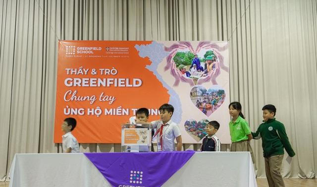 Trường Song ngữ Liên cấp Greenfield (KĐT Ecopark) đồng hành cùng Quỹ Tấm lòng Việt ủng hộ miền Trung - Ảnh 3.